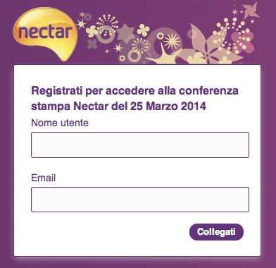 Registrazione Nectar
